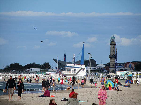 Am Ostseestrand in Warnemünde